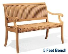 online shopping for WholesaleTeak New Grade A Teak Wood Luxurious Outdoor Garden 5 Feet Bench - -Giva Collection from top store. See new offer for WholesaleTeak New Grade A Teak Wood Luxurious Outdoor Garden 5 Feet Bench - -Giva Collection Teak Garden Bench, Outdoor Garden Bench, Patio Bench, Painted Outdoor Furniture, Teak Furniture, Outdoor Cushions, Bench Cushions, Sunbrella Fabric, Wood
