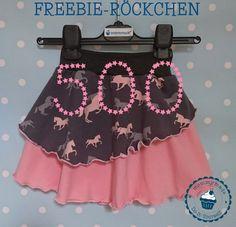 Danke für 500 likes auf fb. Dafür gibt es ein FREEBIE - das Freebie-Röckchen 500 gratis Schnittmuster free skirt pattern freebook Rock Röckchen