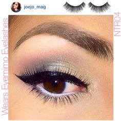 """Beauty Instagrammer, @joejo_mag said on her IG post """"@eyemimocosmetics #NTR04 lashes  love these gorgeous lashes"""""""