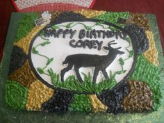 Hunting cake made for Corey's birthday