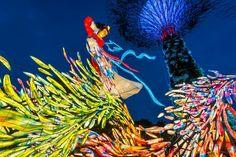 Mid-Autumn Festival @ Gardens By The Bay #gbtb #Singapore #bluehour #Midautumn #lanterns #colours #photography #Nikon