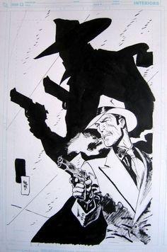Who knows what evil lurks in the hearts of men? The Shadow by Jordi Bernet. Via Comic Art Fans. Comic Book Characters, Comic Books Art, Comic Book Layout, Nostalgia Art, Jordi Bernet, Ligne Claire, Shadow Art, Bd Comics, Pulp Art
