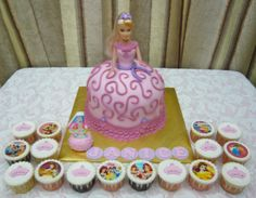 princess theme cupcakes and cakes | ... crystal request princess doll cake and princess themed cupcakes 1 5kg