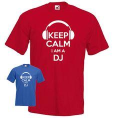 Keep calm I'm a DJ disc jockey headphones disco by davesdisco