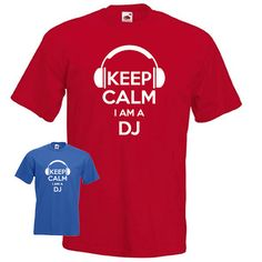 Keep calm I'm a DJ disc jockey headphones disco by davesdisco