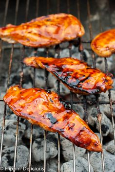 Grilled Gluten Free Teriyaki chicken is the perfect dinner for a summer night at…