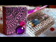 DIY: Mini Book for Bottle Charms ♥ - YouTube