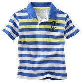 Stripes are nice. Comfortable and cute, this striped polo is perfect for his next play date or party. Easy to style, this piece pairs perfectly with his favorite bottoms.
