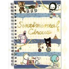 San-X Sentimental Circus Sailor B6 Hard Cover Spiral Notebook: Blue
