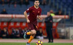 Download imagens Kostas Manolas, futebol, As Roma, jogadores de futebol, Serie A