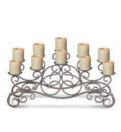 Scrolled Copper Fireplace Candelabra | Fireplace candelabra ...