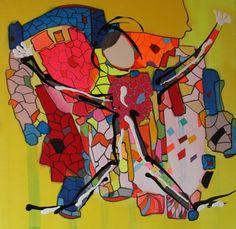 #labode#labodeetbaliste#labodegallery#labode#pierrot#move#marrakech#acrylic#100x100#arte#rresidence#gueliz#marocco#2014
