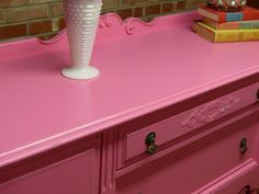Benajmin Moore Impatient Pink SW 6854 #colorfurniture SIMPLE REDESIGN - CUSTOM FURNITURE PAINTING - GRAND RAPIDS, MI: PORTFOLIO