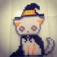 Spooky cat Halloween hama perler beads by xiqueta82