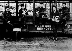 The Beatles by Astrid Kirchnerr: Pete Best on the left, then George Harrison, John Lennon, Paul McCartney and Stuart Sutcliffe (Astrid´s fiance who died out of hemorrage in Hamburg at the age of Stuart Sutcliffe, George Harrison, Harrison Ford, Abbey Road, Ringo Starr, Paul Mccartney, John Lennon, Harry Benson, Dean Martin
