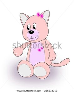 A pink toy cat over a white background. Funny Pix, Funny Pictures, Hello Kitty, Minnie Mouse, Disney Characters, Fictional Characters, Toy, Stock Photos, Gallery