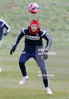 Sebastian Larsson during a Sunderland AFC training session at the Academy of Light on January 22, 2015 in Sunderland, England. (Photo by Ian Horrocks/Sunderland AFC via Getty Images)
