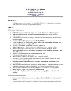 Veterinary Assistant Resume Examples 727 Best Resume Examples Images On Pinterest