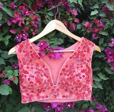 Riddhi Mehra # hand crafted blouse # pretty pink # Indian fashion