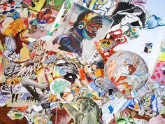 Studio Floor shot, NYC artist Micci Cohan
