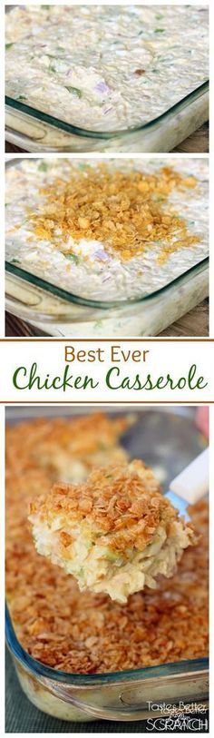 Casserole This Chicken Casserole is my husband's all time favorite meal! Recipe fromThis Chicken Casserole is my husband's all time favorite meal! Recipe from Best Chicken Casserole, Casserole Dishes, Casserole Recipes, I Love Food, Good Food, Yummy Food, Tasty, Food Dishes, Main Dishes