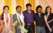 Actor krishna marriage reception..south indian celebrities attended the function..