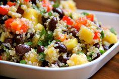 Mango & Black Bean Quinoa Salad. This site has SO many good-looking recipes! Maybe I'm hungry.