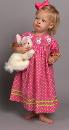 Smocked Bunny Dress from Smocked Auctions