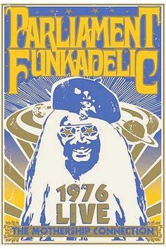 Parliament Funkadelic poster 1976. Detroit music. PURE DETROIT