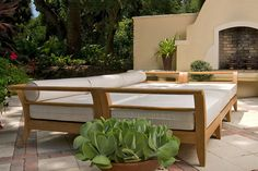 Aman Dais Teak Patio Daybed - asian - day beds and chaises - atlanta - Westminster Teak Furniture Daybed Outdoor, Patio Daybed, Teak Outdoor Furniture, Outdoor Decor, Wooden Daybed, Westminster Teak, Inexpensive Backyard Ideas, Daybed Design, Outdoor Living