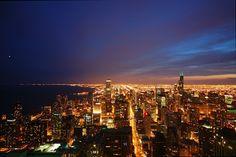 Chicago at night!