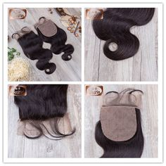 7A Grade Virgin Human Hair Body Wave Silk Base Closure Freestyle,Middle Part,3 Part 4x4 inches, 120% Density, Natural Baby Hair, Swiss Lace, Medium Brown Lace Color, Bleached Knots WhatsApp number : +86-18661655527 Email:sales4@bolinhair.com
