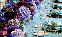 Decoração de Casamento : Paleta de Cores Lilás e Aqua