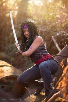 Cassian Cosplay as Michonne |Photo By: Starrfall Photography
