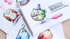 Prima Watercolor Pencils First Impressions & Tim Holtz Bird Crazy - Colo...