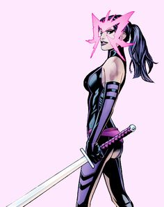 Find images and videos about Marvel, x-men and psylocke on We Heart It - the app to get lost in what you love. Comics Anime, Marvel Comics Art, Marvel Comic Universe, Marvel Dc Comics, Marvel Women, Marvel Girls, Comics Girls, Comic Book Characters, Marvel Characters