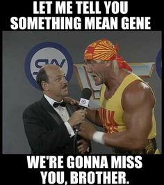 we will miss you Mean Gene - wwe & wwf News Wrestling Memes, Watch Wrestling, Wrestling Divas, Wwf Superstars, Wrestling Superstars, Wwe Wallpapers, Hulk Hogan, Wwe Wrestlers, Professional Wrestling
