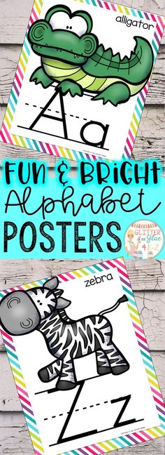 Included are alphabet posters with rainbow background! Each poster includes an uppercase and lowercase letter with an adorable animal picture! Just download, print, laminate, and you're ready to go! Keywords: classroom décor, classroom, alphabet, animal theme, classroom decorations, classroom ideas, letter identification, preschool, kindergarten, first, back to school, letter formation, neon classroom, bright classroom