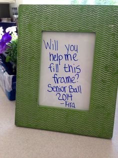 Clever way to ask someone to prom.