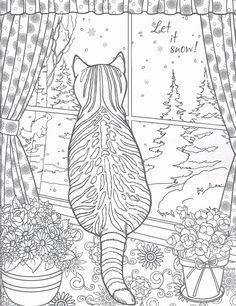 Farm Animal Coloring Pages, Cat Coloring Page, Free Adult Coloring Pages, Coloring Book Pages, Printable Coloring Pages, Coloring Sheets, Detailed Coloring Pages, Mandala Coloring Pages, Cat Quilt