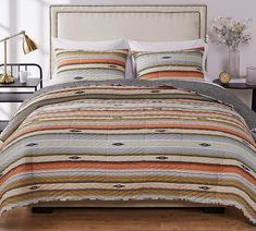 Southwestern Native Stripe Quilt Set