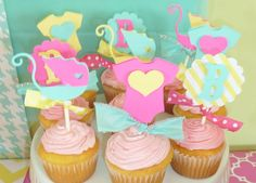 Cupcakes at a Baby Girl Shower #babyshower #cupcakes