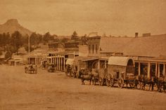 Prescott, Arizona! Old Whiskey Row. Freight Wagons on Gurley Street in Prescott, Arizona, Circa 1870's by The Nite Tripper, via Flickr