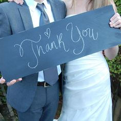 Large chalkboard / blackboard - direction / thank you / save the date sign for wedding / event ETSY Thank You Sign, Large Chalkboard, Wedding Signage, Blackboards, Wedding Events, Weddings, Wedding Flowers, Wedding Stuff, Wedding Photography