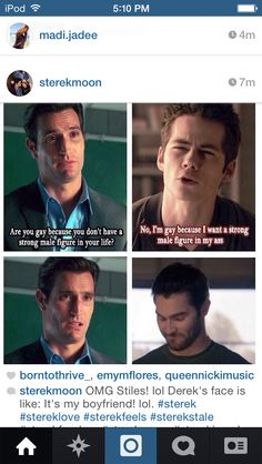 Hahahah, I hate Scott's dad, and I love Stiles' sass in the scene. Im not really a Sterek shipper but i friggin died during this scene. those two are amazing. Teen Wolf Quotes, Teen Wolf Funny, Teen Wolf Memes, Teen Wolf Boys, Teen Wolf Dylan, Teen Wolf Cast, Dylan O'brien, Teen Wolf Ships, Lgbt