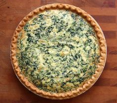 A classic French spinach quiche -- perfect for lunch or a quick weeknight dinner (and you can make it ahead of time)