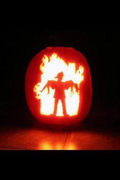 Fireman's pumpkin. Wow! That's pretty impressive.