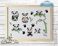 Panda SVG Bundle Watercolor Bear Clipart Drawing Vector Cut Files for Cricut and Silhouette or Printing How To Make Stickers, Clear Stickers, Bear Clipart, Bunny Drawing, Cute Panda, Vector File, Panda Bear, As You Like, Planner Stickers