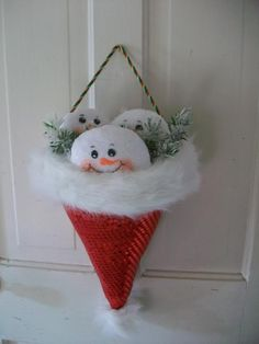 Snowman santa hat - Topic