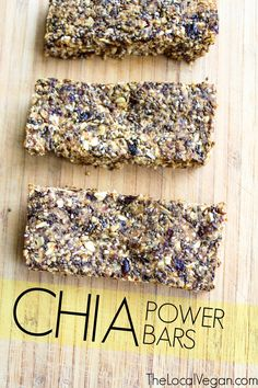 Chia Power Bars